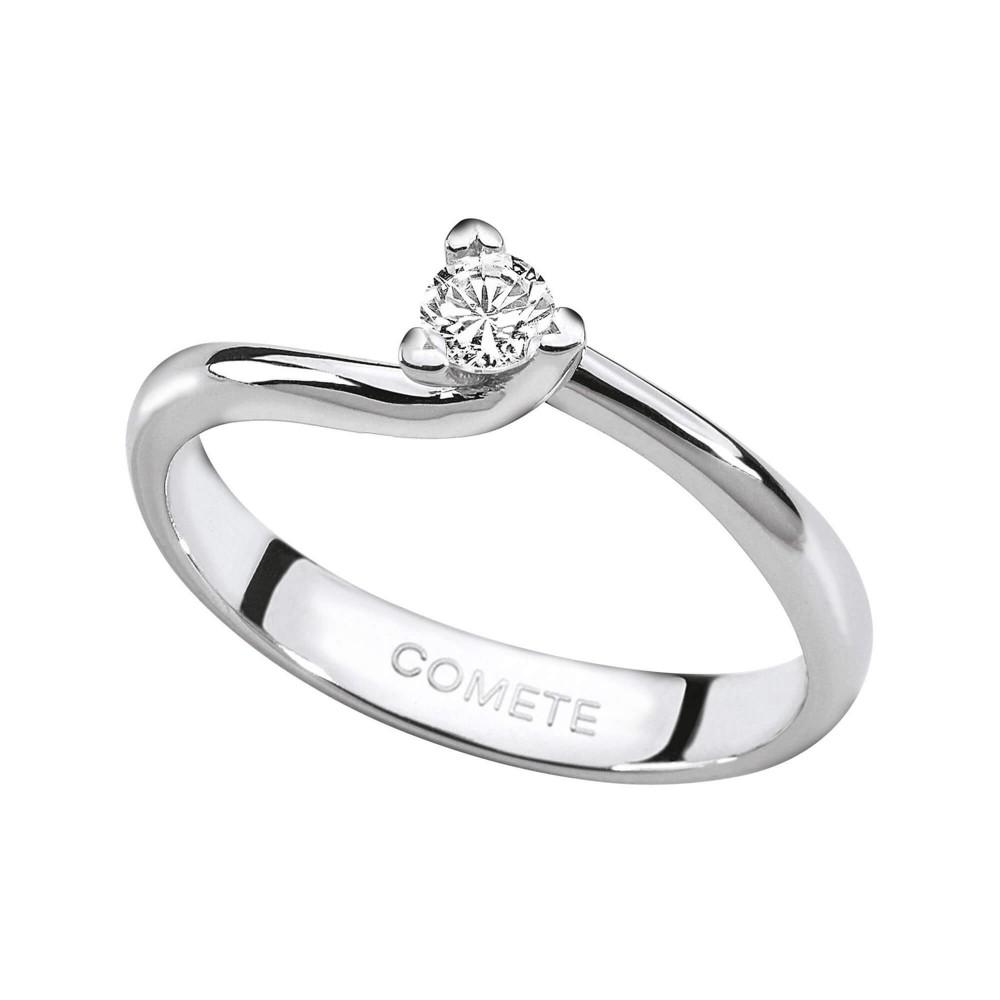 bien connu large choix de couleurs gros en ligne anello solitario in oro bianco e diamante - Gioielli Campisi