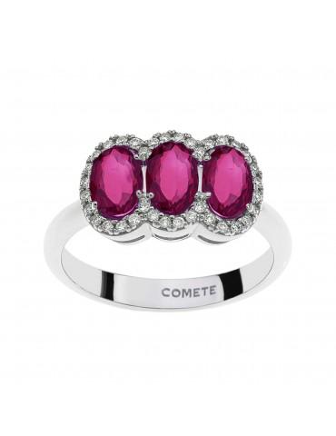anello triloy con rubini e...