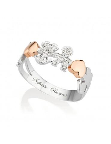 anello oro bianco con cuori...