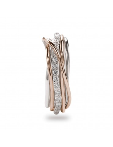 negozio online 9ac4e c7b84 Anello Filodellavita 7 fili oro, argento e Diamanti Bianchi